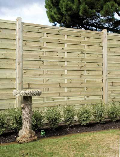 Elite St Esprit Square Wooden Fence Panel - 1.8m (H)