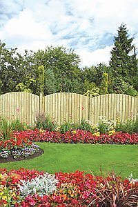 Dome Feather Edge Wooden Fence Panel