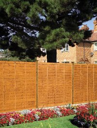 Grange Professional Lap Wooden Fence Panel (Golden Brown)