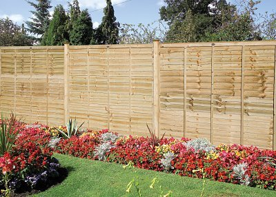 Grange Professional Lap Green Wooden Fence Panel (Pressure Treated)