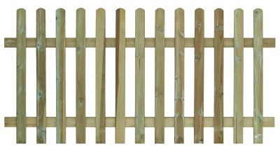 Round Top Palisade Fencing - 1.2m (H)