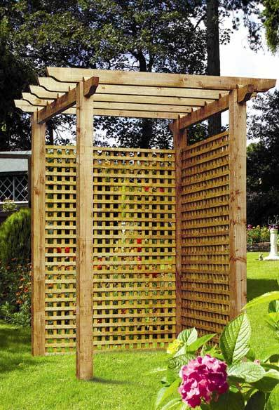 Square Badminton Garden Trellis (Brown) - 1.2m (H)