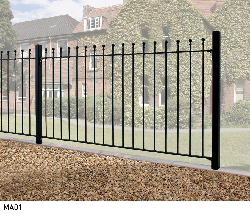 Manor metal fencing 3ft high buy wrought iron metal fence panels online - Aluminum vs steel fencing ...