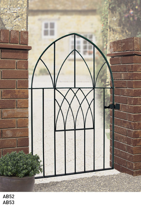 abbey low bow metal garden gate discount fence panels. Black Bedroom Furniture Sets. Home Design Ideas