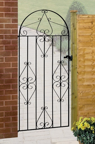 Classic Bow Top Tall Metal Side Gate