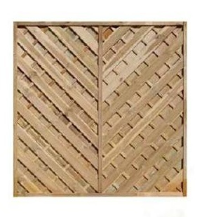 Louth Pressure Treated Chevron Fence Panels 1800x1200