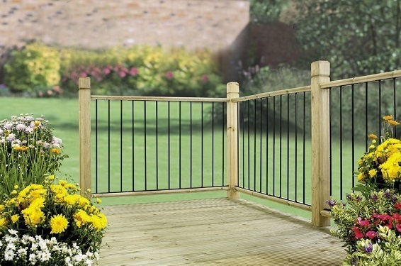 Garda metal garden decking panel discount fence panels for Flat pack garden decking