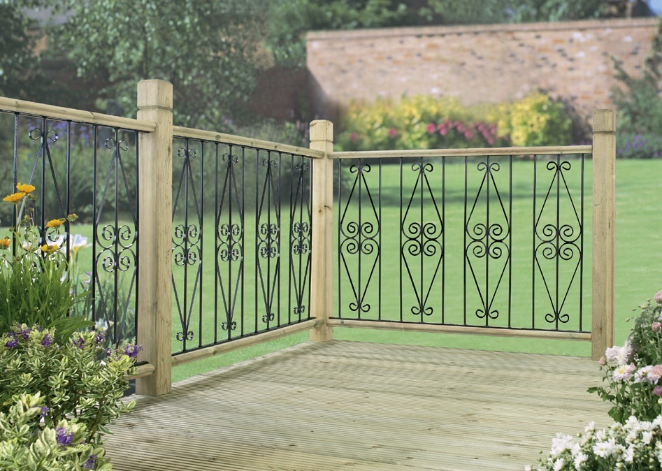 Metal garden decking panels buy discount metal deck for Garden decking fencing