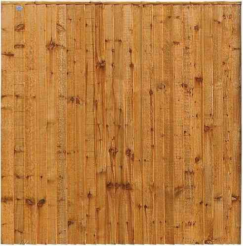 Weston Closeboard Wooden Fence Panel (Golden Brown)