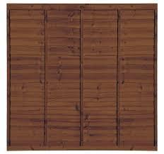 Professional Lap Wooden Fence Panel (Dark Brown)