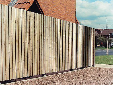 Feather edge fencing system